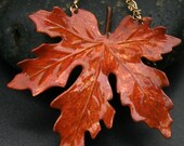 Fall Maple Leaf-Hand painted vintage brass by Tamara Mello for Madre de Olivia