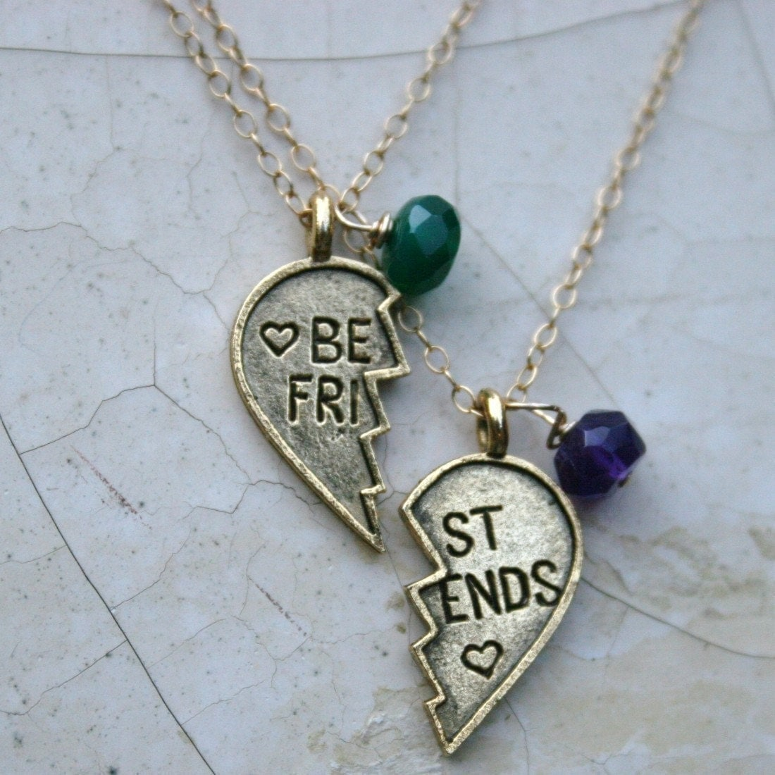 Best Friends Charm Necklace With Birthstones By Madredeolivia