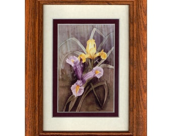 "6.375""x 8.375"" FRAMED IRISES"