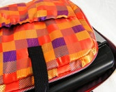 Laptop Netbook One of A Kind Silk Patchwork Computer Bag with Pockets  Back to School