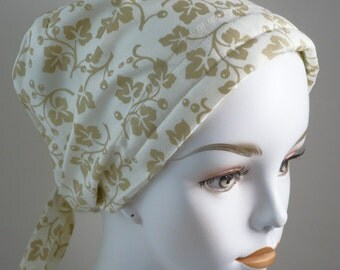 Tan Ivy  Chemo Scarf Cancer Turban Hat Cotton Bad Hair Day Head Wrap