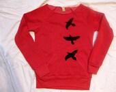 Red Raven Screenprinted Sweatshirt