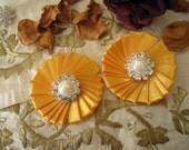 Saffron Yellow Satin Daisy Flowers