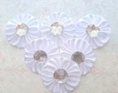 6 piece 2 inches Wedding Decorations to make DIY Cake Toppers, Center Piece and Favor Decorations and Bridal Flip Flops