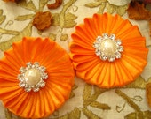 Orange Daisy Satin Flowers