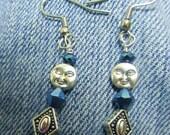 Moon and dew earrings