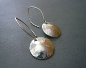 RESERVED - Hammered Silver Dome Earrings in Sterling Silver