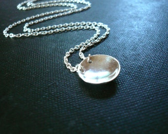 Reflecting Pool Necklace in Sterling Silver - Dainty Necklace, Simple Jewelry
