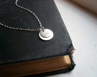 Tiny Silver Layered Dots Necklace in Sterling Silver - Great Gift, Dainty Everyday Necklace