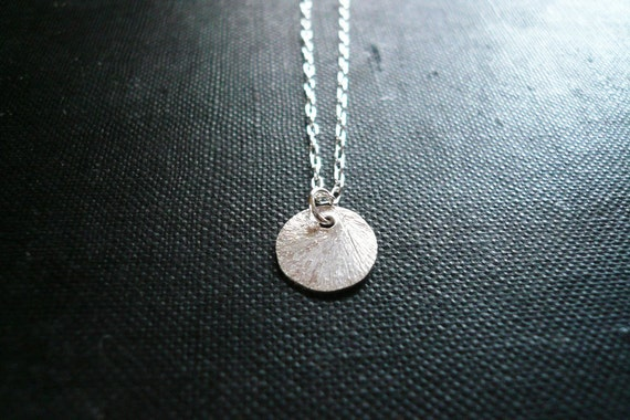 Silver Moon Drop Necklace in Sterling Silver