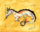 Koi Oriental Dragon PRINT - 8.5x11