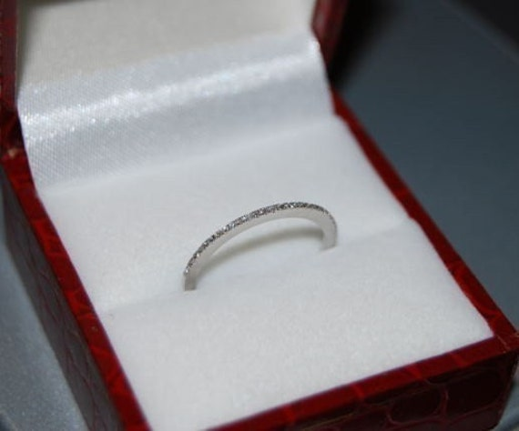 Diamond wedding band 14k White Gold
