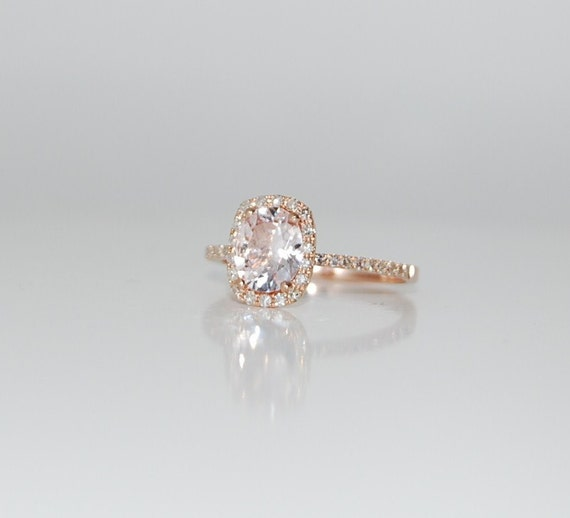 Rose gold engagement ring sapphire ring diamond ring 23ct rose gold engagement ring sapphire ring diamond ring 23ct cushion sapphire 14k rose gold engagement rings by eidelprecious junglespirit Images