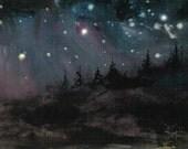 ROCKY MT. NIGHT 5x7 celestial print
