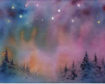 AURORA  5x7 celestial print by Jim Smeltz