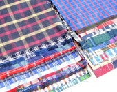 6'x 6'  recycled plaid cotton shirt quilting squares