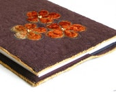Journal book cover brown quilted golden