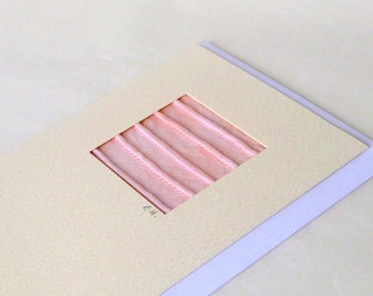Card pale pink tucks minimalistic textured mini picture