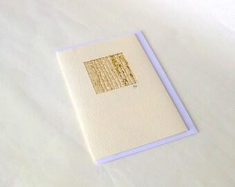 Card fiber art painted silk stylish