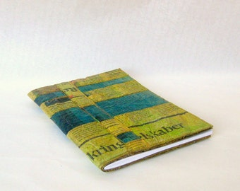 Covered A5 notebook coloured recycled Danish newspaper