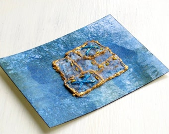 ACEO hand embroidered original fiber art