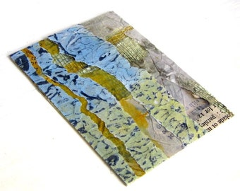 ACEO textured mixed media mini collage