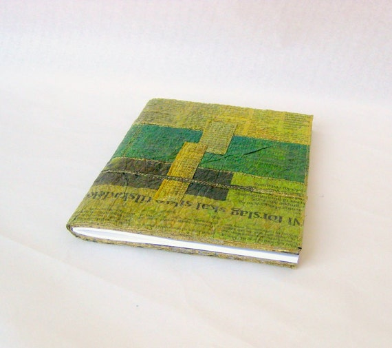 Covered notebook colored recycled Danish newspaper