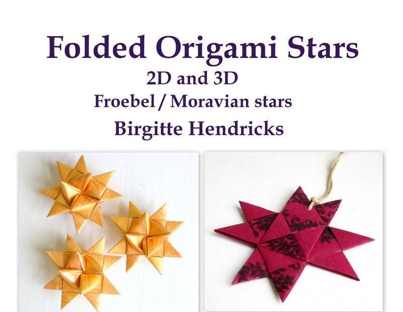 PDF ePattern 3D folded origami Moravian Froebel star