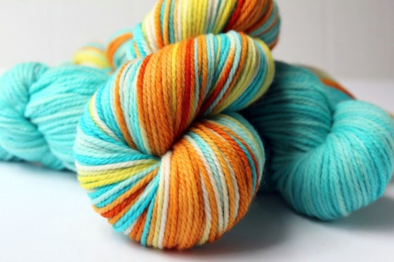 3ply Merino Wool - Beach Boy - Handpainted Wool Yarn (10.5oz)