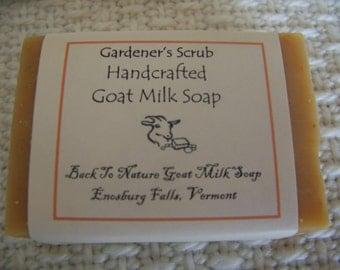Gardener's Scrub Goat Milk Soap/made in Vermont/exfoliate