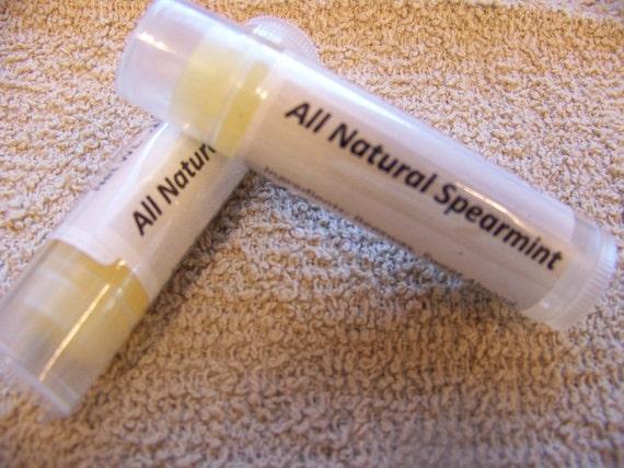 All Natural Spearmint Lip Balm