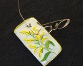 Wishing Spring Hand Embroidered Eyeglass Case