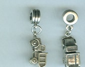Sterling 3D DUMP TRUCK Bead Charm for All Name Brand Add a Bead Charm Bracelets - Construction, Profession