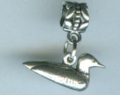 Sterling LOON  Bead Charm for all Name Brand Add a Bead Bracelets - 3D - DUCK