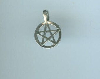 Pentacle Charm Pendant - Small Sterling Silver
