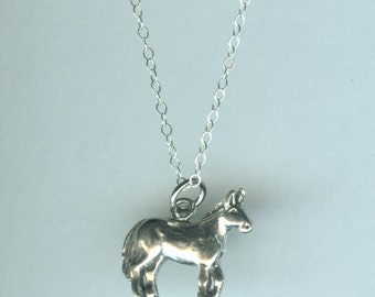 Sterling MULE Pendant AND Chain