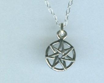 Sterling Fairy Star Charm - Elven Star
