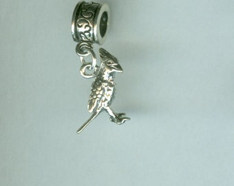 Sterling 3D CARDINAL BIRD Bead Charm for All Name Brand Add a Bead Bracelets - 3D