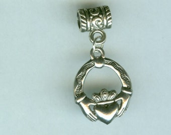 Silver CLADDAGH Bead Charm for all Name Brand Add a Bead Bracelets