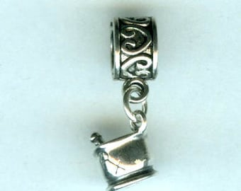 Sterling PHARMACIST Bead Charm for All Name Brand Add a Bead Charm Bracelets - 3D -