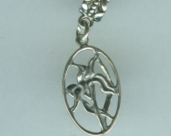 Sterling Silver IRIS FLOWER Bead Charm for Trollbead, European and All Name Brand Add a Bead Charm Bracelets - 3d