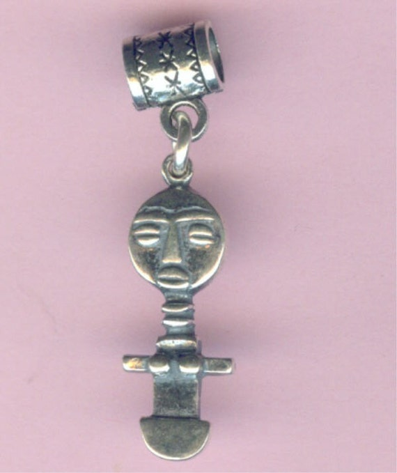 Pandora african fertility goddess pendant charm bracelet add a