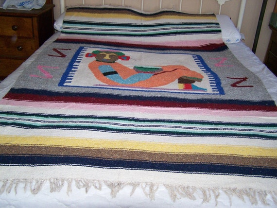 vintage mexican blanket car seat cover yoga mat summer. Black Bedroom Furniture Sets. Home Design Ideas