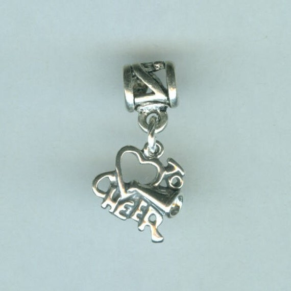 sterling to cheer bead charm for all name brand add a