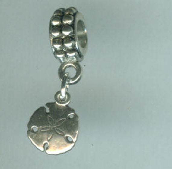 Sterling Silver SAND DOLLAR Bead Charm for all Name Brand Add a Bead Bracelets - Charm - Mini