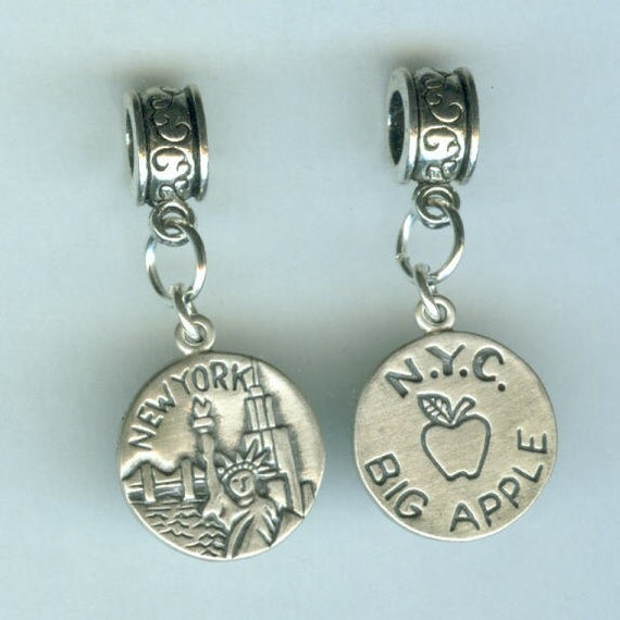 Name Brand Bracelets: Big Apple Bead Charm For All Name