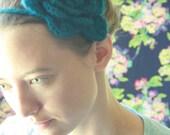 peacock blooming headband