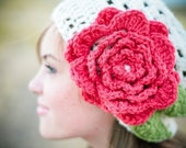 blooming slouchy beret