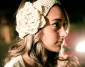cream flapper headband