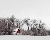 The Red Barn - 8x10 Fine Art Print